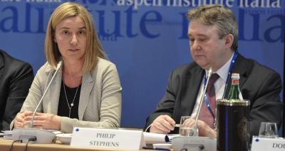 Federica Mogherini and Philip Stephens, Aspen European Dialogue, Aspen Institute