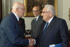 Giorgio Napolitano and Henry Kissinger