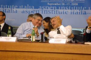Ghideon Meir and Massimo D'Alema