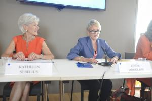 Kathleen Sebelius and Linda Douglass