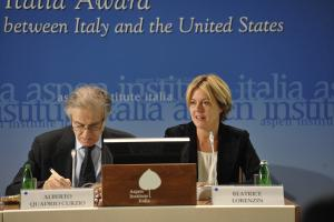 Alberto Quadrio Curzio and Beatrice Lorenzin