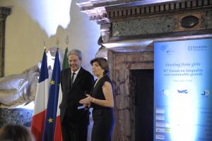 Paolo Gentiloni and Catherine Colonna